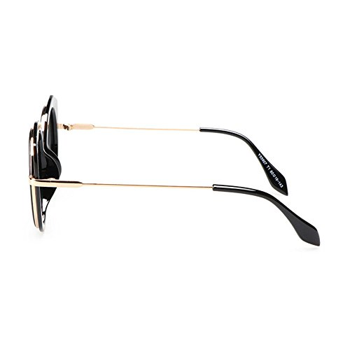 protection Argent 99 Uv400 Les élégantes la rondes polarisé d'ombre de de dames frontière de lunettes ont Oqa6PcZO