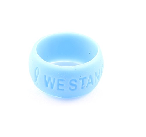 - Light Blue Ribbon Awareness Silicone Comfort Ring Small Buy 1 Give 1-2 Rings only $9.99