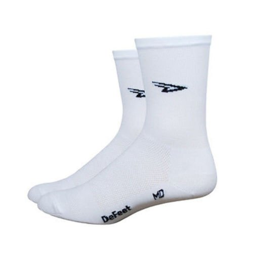 DEFEET Aireator Tall DLogo White Hitop Socks, X-Large