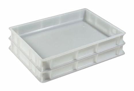 2 x Pizza pulpejo Depósito Euro de caja Euro Box – Caja 60 x 40 cm ...