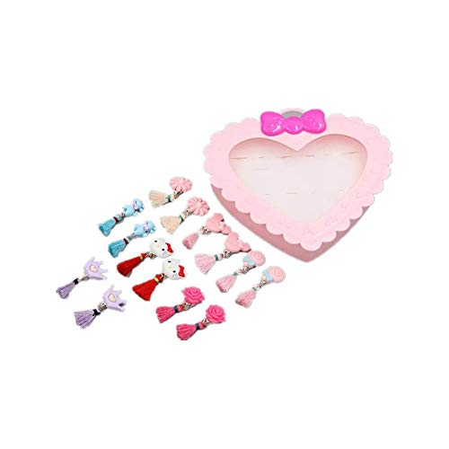 Yefashion Hello Kitty 7pairs Ear Clips Kids Girl Dress up Mickey Minnie Mouse Earrings Toy Princess]()