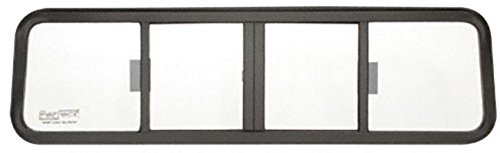 (CRL Duo-Vent Four Panel Truck Sliding Window with Clear Glass for 1973-1980 Chevy/GMC Conventional Cabs)