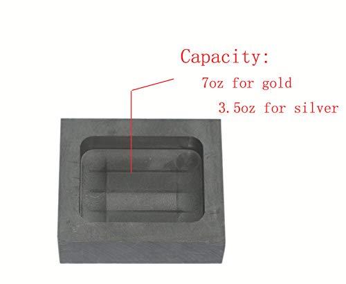 200g Graphite Ingot Mold Melting Casting Mould for Gold Silver Nonferrous Metal