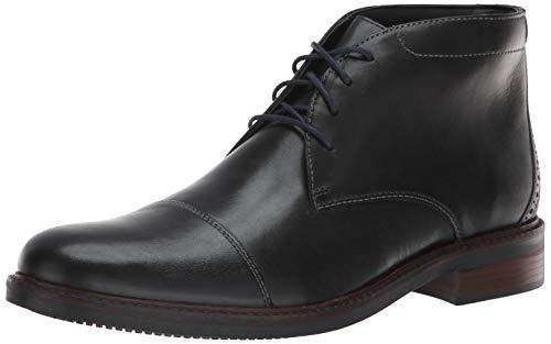 Bostonian Men's Maxton Mid Chukka Boot, Black Leather, 120 M US