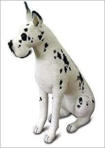 life size great dane harlequin dog stuffed animal toys games. Black Bedroom Furniture Sets. Home Design Ideas