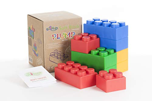 UNiPLAY Jumbo Soft Building Blocks - Plump Series (12pcs), Educational and Creative Toys, Food Grade Material(Antibacterial), Non-Toxic, BPA Free, 100%Safe for Kids, Toddlers, Baby, Preschoolers
