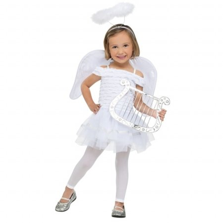 [Fun World Costumes Baby Girl's Little Angel Toddler Costume, White, Small(24Months-2T)] (Little Girl Angel Costumes)