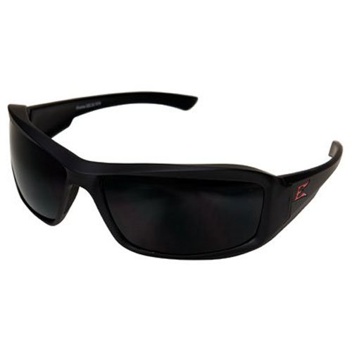 4001989 Edge Eyewear Brazeau Torque Matte Frame Polarized Smoke Lens Edge Safety Glasses