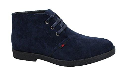 Chaussures En Daim En Cuir Suédé Hiver Bleu Foncé Pour Homme
