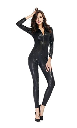 pinse pinse snake skin like leather tight jumpsuit catsuit halloween costumes