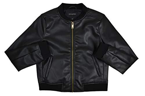 Banana Republic Womens 171413 Faux Leather Bomber Jacket Black (Small)
