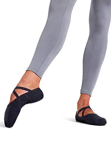 Capezio Men's Canvas Romeo Ballet Shoe,Black,10.5 M US (Mens Ballet Shoes)