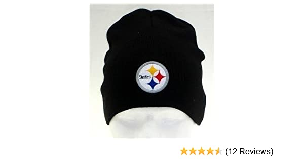 e8584c18c Amazon.com   Pittsburgh Steelers NFL Team Apparel Black Classic Knit Beanie  Hat   Sports Fan Beanies   Sports   Outdoors