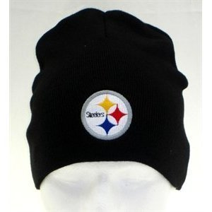 d67a5ba826b Image Unavailable. Image not available for. Color  Pittsburgh Steelers NFL  Team Apparel Black Classic Knit Beanie Hat
