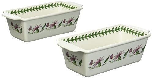 Portmeirion 597419 Botanic Garden 2 Piece Rectangular Baker Set, White