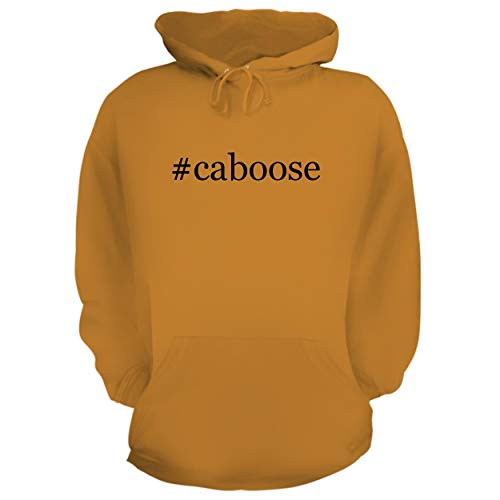 BH Cool Designs #Caboose - Graphic Hoodie Sweatshirt, Gold, XXX-Large