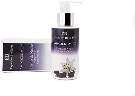 EXPANSION BIOLOGICA Crema de Noche Aminocolageno   Crema Facial Hidratante con Colágeno, Urea y Ácido Láctico para Todo Tipo de Pieles
