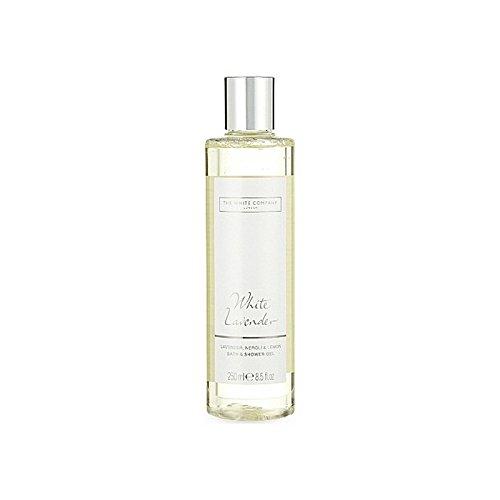 現代ラショナル移植The White Company White Lavender Bath & Shower Gel - 白同社白ラベンダーのバス&シャワージェル [並行輸入品]
