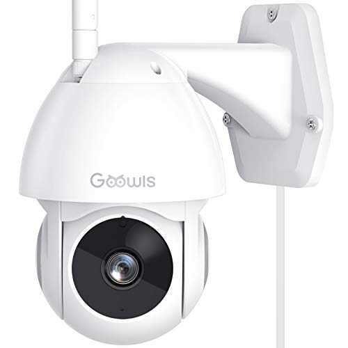 Security Camera Outdoor, Goowls 1080P Pan/Tilt 2.4G WiFi Home Smart Security Surveillance IP Camera Wired with…