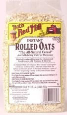 Oats Rolled Instant 16 Ounces (Case of 4)
