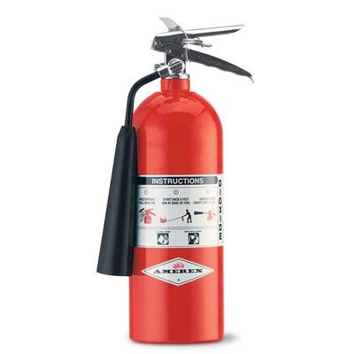 Amerex 322 Amerex Carbon Dioxide Fire Extinguisher for Class B Fires, 5 lb.