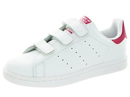 Adidas Kids Stan Smith CF C Originals Ftwwht/Ftwht/Bopink Ca