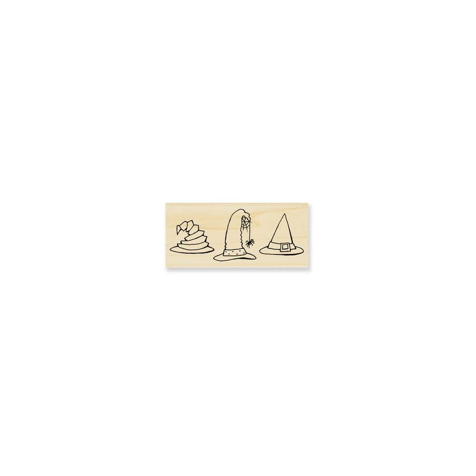 Black Hat Trio   Rubber Stamps