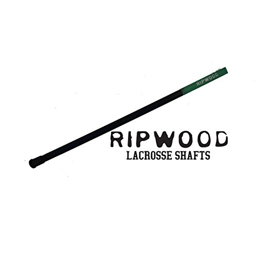 RipWood Solid Wood (Ash) Attack Lacrosse Shaft / Stick (made by hand in the USA) with Jimalax End...