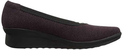 CLARKS Womens Caddell Dash Wedge Pump Aubergine q3NCRwf6V