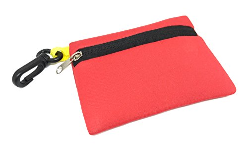 Sports Imports Red Floating Neoprene Wallet with Zipper & Hook