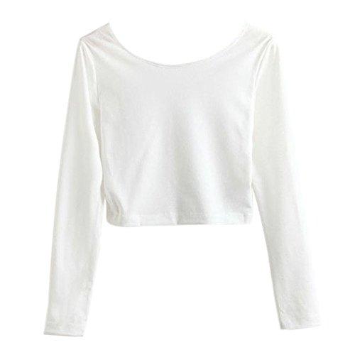 ROPALIA Sleeves Cropped T shirt Clubwear