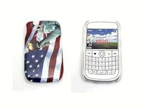 Funda blackberry curve 8520 9300 carcasa protectora con bandera EE.UU y estatua