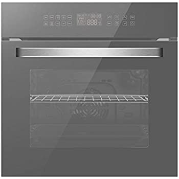 Empava 24 Tempered Glass LED Digital Touch Controls 10 Cooking Style Electric Built-In Single Wall Oven EMPV-24WOC12-LTL