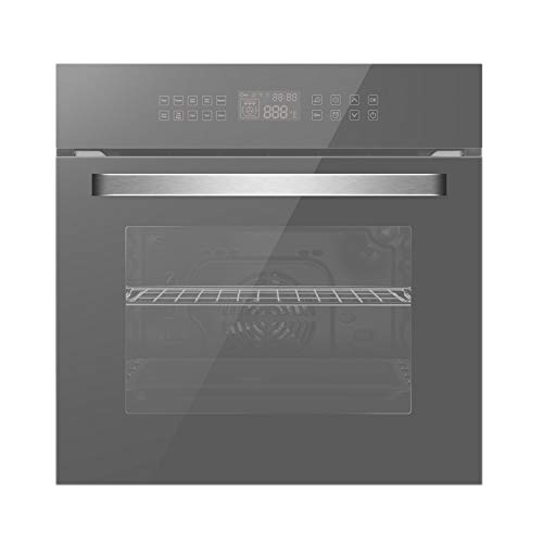 Empava 24″ 10 Cooking Functions W/Rotisserie Electric LED Digital Display Touch Control Built-in Convection Single Wall Oven, WOC17