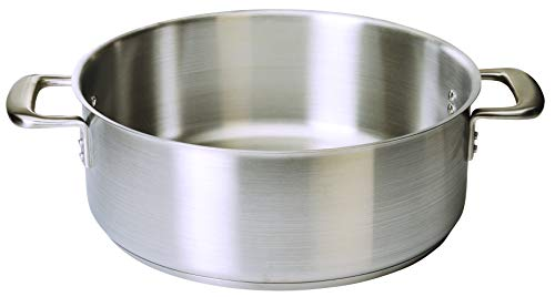 (Update International CBR-20 20 Quart Stainless Steel Braizer Without Cover, Stainless Steel)