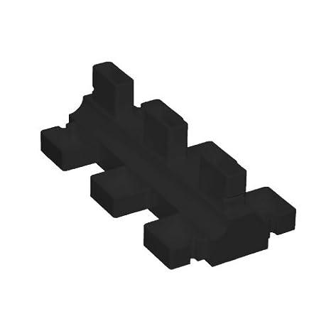 Posamentenverschlu/ß schwarz 80 x 30 mm
