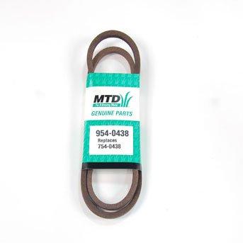 MTD Genuine Part 954-0438 Genuine Parts Garden Tiller Drive Belt OEM Part for Troy-Bilt Cub-Cadet Craftsman Bolens Remington Ryobi Yardman Yard-Machi