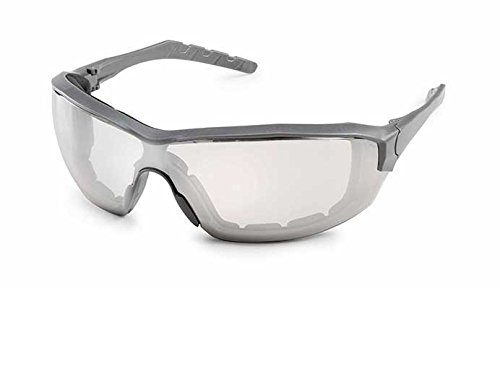 Gateway Safety 22GY0F Silverton Temple Version Safety Glass, Gray Frame- Clear in/Out Mirror FX2 Anti-Fog Lens