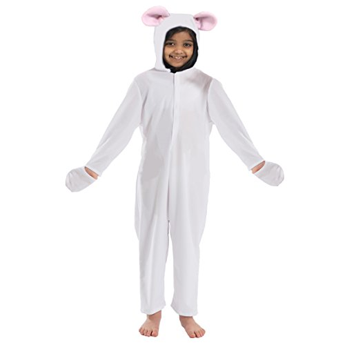 White Mouse Costume for Kids 3-5