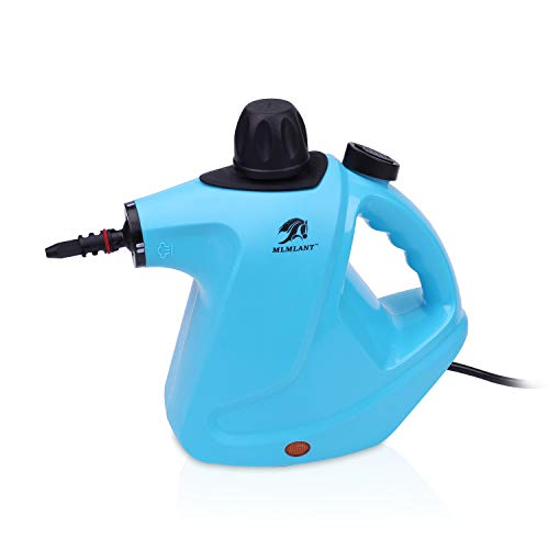 MLMLANT Handheld Pressurized Steam Cleaner 450Milliliter Water Tank Capacity 9 Pieces Accessory Set Multipurpose Multisurface all Natural Chemical Steam Cleaning Home Auto Patio More