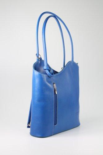 worn Italian 28 x also as W Handbag Blue be Shopper 8 can D cm x a Shoulder x Leather 28 H Fine Bag Backpack BELLI x vg6wx56