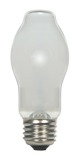 Satco 72BT15/WH/120V/E26 CARD Halogen Halogen, 72W E26 BT15, White Bulb [Pack of 6]