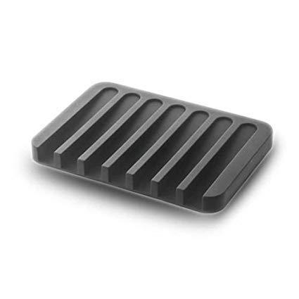 Draining Soap Dish - FUGAMI Silicone Soap Tray / Soap Holder / Soap Dish