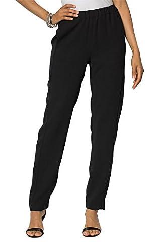 Women's Plus Size Modern Pull-On Pants Black,16 W