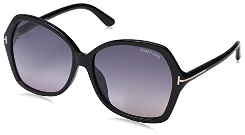 Tom Ford Women's FT9328 Sunglasses, Shiny Black by Tom Ford