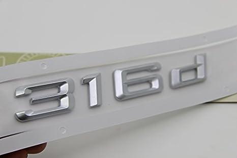 E880 316d Emblem 316 D Schriftzug Badge Auto Aufkleber 3d Car Sticker Chrom Zahlziffer Auto
