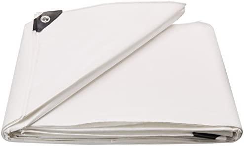 10X12 Multi-Purpose White Heavy Duty DRY TOP Poly Tarp (10'x12′)