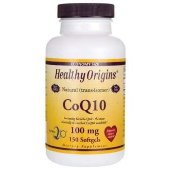 Healthy Origins - CoQ10 Kaneka Q10 se gelifica 100 el magnesio. - 150Cápsulas blandas: Amazon.es: Salud y cuidado personal