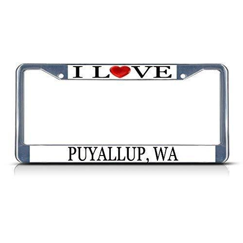 YEX Waterproof I Love Heart Sleeper Shark License Plate Frame Car Tag Frame Auto License Plate Holder 12