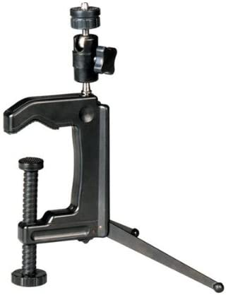 Mini Portable Swiveling C-Clamp Tripod Stand for Camera Camcorder DSLR